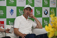 Ross Fisher (ENG) during media interview after carding a 67 (-18) during Round Three of The Tshwane Open 2014 at the Els (Copperleaf) Golf Club, City of Tshwane, Pretoria, South Africa. Picture:  David Lloyd / www.golffile.ie