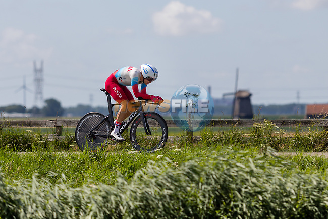 Anton Vorobyev (RUS) in action during the 2019 ITT Elite Men European Championships, 8th August 2019. Photo by Thomas van Bracht / PelotonPhotos.com | All photos usage must carry mandatory copyright credit (Peloton Photos | Thomas van Bracht)