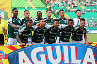 PALMIRA - COLOMBIA, 31-03-2019: Jugadores del Cali posan para una foto previo al partido por la fecha 12 de la Liga Águila I 2019 entre Deportivo Cali y Cúcuta Deportivo jugado en el estadio Deportivo Cali de la ciudad de Palmira. / Players of Cali pose to a photo prior match for the date 12as part Aguila League I 2019 between Deportivo Cali and Cucuta Deportivo played at Deportivo Cali stadium in Palmira city.  Photo: VizzorImage / Nelson Rios / Cont