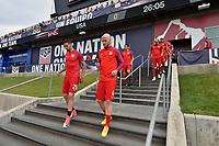 Commerce City, CO - Thursday June 08, 2017: Geoff Cameron and Michael Bradley during their 2018 FIFA World Cup Qualifying Final Round match versus Trinidad & Tobago at Dick's Sporting Goods Park.
