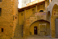 Medieval housesof Town Museum - San Gimignano - Italy