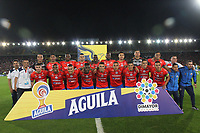 BOGOTA - COLOMBIA, 12-06-2019: Jugadores del Pasto posan para una foto previo al partido de vuelta por la final de la Liga Águila I 2019 entre Deportivo Pasto y Atlético Junior jugado en el estadio Nemesio Camacho El Campín de la ciudad de Bogotá. / Players of Pasto pose to a photo prior Second leg final second leg match of the Aguila League I 2019 between Deportivo Pasto and Atletico Junior played at Nemesio Camacho El Campin stadium in Bogota city. Photo: VizzorImage / Felipe Caicedo / Staff