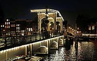 Nederland Amsterdam 2017 . De Magere Brug over de Amstel.   Foto Berlinda van Dam / Hollandse Hoogte