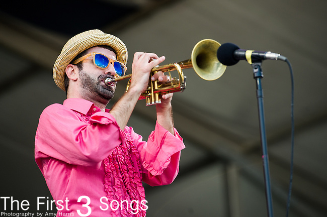 K.C. O'Rorke of Flow Tribe performs during the New Orleans Jazz & Heritage Festival in New Orleans, LA.
