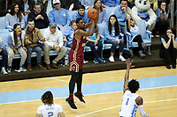 CHAPEL HILL, NC - FEBRUARY 1: Jairus Hamilton #1 of Boston College shoots the ball during a game between Boston College and North Carolina at Dean E. Smith Center on February 1, 2020 in Chapel Hill, North Carolina.