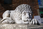 A lion at the bottom of Town Hall tower, Cracow, Poland