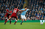 Manchester City's Leory Sane gets fouled by Liverpool's Trent Alexander-Arnold during the Champions League Quarter Final 2nd Leg match at the Etihad Stadium, Manchester. Picture date: 10th April 2018. Picture credit should read: David Klein/Sportimage