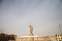 Installed in 1968 during a time of ethnic tensions, this statue not far from the Old City in Kashgar, Xinjiang, China, is one of the largest statues of Chairman Mao Zedong in China.