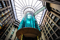 Berln, Germany. Radisson Hotel with a huge aquarium, close to Berliner Dom.