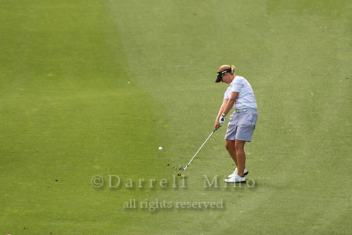 Apr. 1, 2006; Rancho Mirage, CA, USA; Karrie Webb hits an approach shot during the 3rd round of the Kraft Nabisco Championship at Mission Hills Country Club. ..Mandatory Photo Credit: Darrell Miho.Copyright © 2006 Darrell Miho .