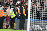 Declan Rice of West Ham United gives his shirt to a fan during Chelsea vs West Ham United, Premier League Football at Stamford Bridge on 30th November 2019