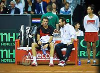 September 12, 2014, Netherlands, Amsterdam, Ziggo Dome, Davis Cup Netherlands-Croatia, Croatian bench<br /> Photo: Tennisimages/Henk Koster