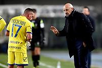 Emanuele Giaccherini , Domenico Di Carlo coach of Chievo <br /> Verona 8-2-2019 Stadio Bentegodi Football Serie A 2018/2019 Chievo Verona - AS Roma <br /> Foto Image Sport / Insidefoto