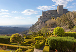 Garden of historic castle medieval village of Marvão, Portalegre district, Alto Alentejo, Portugal, Southern Europe