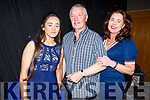 Maedhbh Hanafin, Dave Buckley and Mary Hanafin performing at the Churchill Variety Show in Ballyroe Hotel on Sunday evening