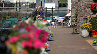WEATHER PICTURE WALES<br />Pictured: A woman enjoys the sunshine by Brecon Canal, Wales, UK. Monday 18 July 2016<br />Re: Sunshine and high temperatures are due to affect most of the UK this week.