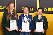 Girls cycling finalists Devon Hiley, Bridgitte Hicks and Elise SaltASB College Sport Young Sportsperson of the Year Awards held at Eden Park, Auckland, on November 24th 2011.