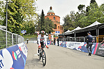 Fernando Gaviria (COL) UAE Team Emirates out for a practice run before Stage 1 of the 2019 Giro d'Italia, an individual time trial running 8km from Bologna to the Sanctuary of San Luca, Bologna, Italy. 11th May 2019.<br /> Picture: Massimo Paolone/LaPresse | Cyclefile<br /> <br /> All photos usage must carry mandatory copyright credit (© Cyclefile | Massimo Paolone/LaPresse)