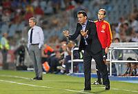 MADRI, ESPANHA, 26 AGOSTO 2012 -CAMP. ESPANHOL - REAL MADRID X GETAFE -  Partida entre Real Madrid x Getafe pela segunda rodada do Campenato Espanhol. O Getafe venceu por 2 a 1, no estadio Santiago Bernabeu em Madrid, neste domingo, 26.  (FOTO: ALFAQUI / BRAZIL PHOTO PRESS).