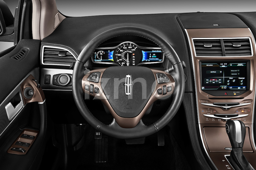 Steering wheel view of a 2011 Lincoln MKX