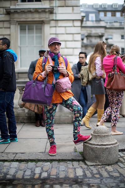 Haris Bakhsh  London Fashion Week Street Style at Somerset House