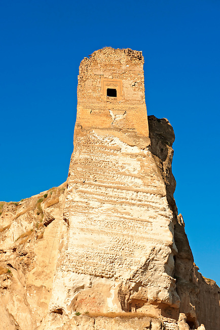 Ruins of the Ayyubids Small Palace in the citadel of ancient Hasankeyf overlooking the Tigris River. Turkey 2