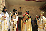 Israel, Jerusalem, Patriarch of Jerusalem Theophilos III at the Feast of St. Constantine and St. Helen