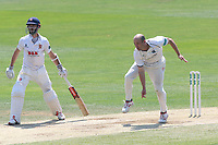 Jonathan Trott in bowling action for Warwickshire during Essex CCC vs Warwickshire CCC, Specsavers County Championship Division 1 Cricket at The Cloudfm County Ground on 20th June 2017