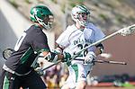 La Canada Flintridge, CA 03/16/13 - Doug Strazza (De La Salle #28) in action during the De La Salle vs Coronado lacrosse game at St Francis High School.  De La Salle defeated Coronado 8-5.