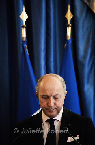 Laurent Fabius, ministre des Affaires Etrangeres, le 31 octobre 2012 a Paris.