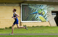 10 MAY 2015 - ST. NEOTS, GBR - A competitor races through Riverside Park in St. Neots, Great Britain during the 2015 British Sprint Triathlon Championships  (PHOTO COPYRIGHT © 2015 NIGEL FARROW, ALL RIGHTS RESERVED)