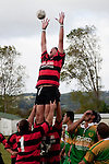 Jason Whitehead fails to take the lineout throw. Counties Manukau Premier Club Rugby Game of the Week between Drury & Papakura, played at Drury Domain on Saturday Aprill 11th, 2009..Drury won 35 - 3 after leading 15 - 5 at halftime.