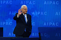 Washington, DC - March 6, 2018: U.S. Ambassador to Israel David Friedman addresses attendees of the 2018 American Israel Public Affairs Committee (AIPAC) Policy Conference at the Washington Convention Center March 6, 2018.  (Photo by Don Baxter/Media Images International)