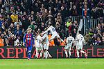 Real Madrid's Sergio Ramos,Carlos Henrique Casemiro , Mariano , Marco Asensio,FC Barcelona's Leo Messi  during spanish La Liga match between Futbol Club Barcelona and Real Madrid  at Camp Nou Stadium in Barcelona , Spain. December 03, 2016. (ALTERPHOTOS/Rodrigo Jimenez)