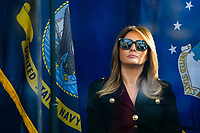 NEW YORK, NEW YORK - NOVEMBER 11: US first lady Melania Trump attends the Veterans Day event at Madison Square Park November 11, 2019, in New York, New York.  (Photo by Eduardo Munoz/VIEWpress)