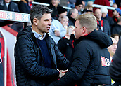 3rd December 2017, Vitality Stadium, Bournemouth, England; EPL Premier League football, Bournemouth versus Southampton; Southampton Manager Mauricio Pellegrino is greeted by Bournemouth Manager Eddie Howe before kick off