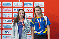 Picture by Allan McKenzie/SWpix.com - 17/12/2017 - Swimming - Swim England Nationals - Swim England National Championships - Ponds Forge International Sports Centre, Sheffield, England - Maisie Elliott & Ciara Schlosshan with bronze in the womens 200m butterfly.