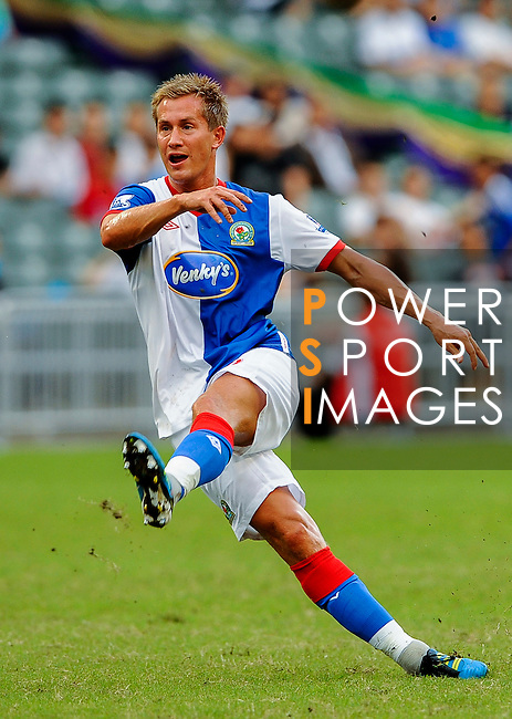 Morten Gamst Pedersen of Blackburn Rovers in action against Kitchee FC during the Asia Trophy pre-season friendly match at the Hong Kong Stadium on July 30, 2011 in So Kon Po, Hong Kong. Photo by Victor Fraile / The Power of Sport Images