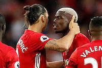 Paul Pogba e Zlatan Ibrahimovic Manchester<br /> Manchester 19-08-2016<br /> Premier League,<br /> Manchester United - Southampton <br /> Foto Darren Staples/Panoramic/Insidefoto
