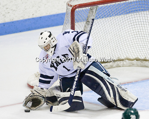 Ryan Rondeau (Yale - 1) - The Yale University Bulldogs defeated the Dartmouth Big Green 7-3 in the Ivy Shootout championship on Saturday, October 30, 2010 at Ingalls Rink in New Haven, Connecticut.