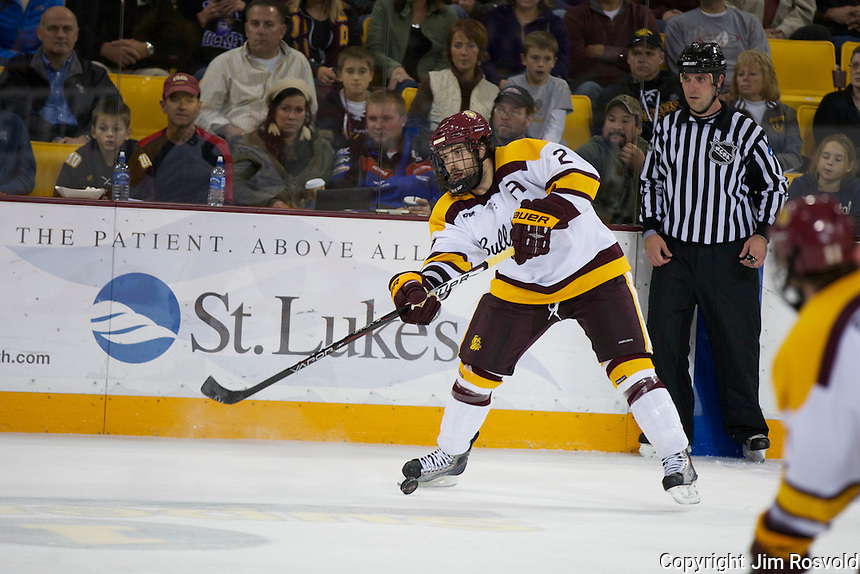 14 Oct 11: Brady Lamb (Minnesota-Duluth - 2) The University of Minnesota-Duluth Bulldogs host the University of Minnesota Golden Gophers in a WCHA matchup at Amsoil Arena in Duluth, MN.