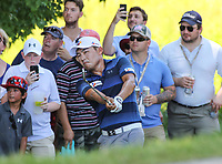 Potomac, MD - July 1, 2018:  Sung Kang hits ball as fans look on during final round at the Quicken Loans National Tournament at TPC Potomac  in Potomac, MD, July 1, 2018.  (Photo by Elliott Brown/Media Images International)