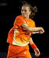 ALEXANDR DOLGOPOLOV (UKR) against BERNARD TOMIC (AUS) in the third round of the men's singles. Bernard Tomic beat Alexandr Dolgopolov 4-6 7-6 7-6 2-6 6-3..20/01/2012, 20th January 2012, 20.01.2012..The Australian Open, Melbourne Park, Melbourne,Victoria, Australia.@AMN IMAGES, Frey, Advantage Media Network, 30, Cleveland Street, London, W1T 4JD .Tel - +44 208 947 0100..email - mfrey@advantagemedianet.com..www.amnimages.photoshelter.com.