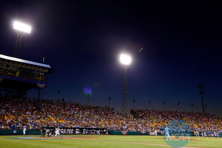 28 JUNE 2010:  The University of South Carolina takes on UCLA during the Division I Men's Baseball Championship held at Rosenblatt Stadium in Omaha, NE.  South Carolina defeated UCLA 7-1 in game one of the best of three series.  Jamie Schwaberow/NCAA Photos