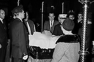 07 Dec 1967, Manhattan, New York City, New York State, USA --- Richard Nixon, family, and friends at the funeral for Cardinal Francis Joseph Spellman in St. Patrick's Cathedral. Spellman was ordained in 1916 and became Archbishop of New York in 1939. --- Image by © JP Laffont