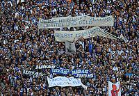 FUSSBALL   1. BUNDESLIGA   SAISON 2011/2012    6. SPIELTAG FC Schalke 04 - FC Bayern Muenchen                       18.09.2011 Fanplakate gegen Torwart Manuel NEUER (Bayern)