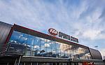 S&ouml;dert&auml;lje 2014-09-22 Ishockey Hockeyallsvenskan S&ouml;dert&auml;lje SK - IF Bj&ouml;rkl&ouml;ven :  <br /> Fasad och skylt p&aring; Axa Sports Center<br /> (Foto: Kenta J&ouml;nsson) Nyckelord: Axa Sports Center Hockey Ishockey S&ouml;dert&auml;lje SK SSK Bj&ouml;rkl&ouml;ven L&ouml;ven IFB  utomhus exteri&ouml;r exterior