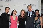 Charlie White - Meryl Davis - Tina and Terry Lundgren and Michelle Kwan - The 11th Annual Skating with the Stars Gala - a benefit gala for Figure Skating in Harlem - honoring Meryl Davis & Charlie White (Olympic Ice Dance Champions and Meryl winner on Dancing with the Stars) and presented award by Tamron Hall on April 11, 2016 on Park Avenue in New York City, New York with many Olympic Skaters and Celebrities. (Photo by Sue Coflin/Max Photos)