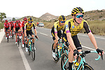 Steven Kruijswijk (NED) and Team Jumbo-Visma on the front of the peloton during Stage 3 of La Vuelta 2019 running 188km from Ibi. Ciudad del Juguete to Alicante, Spain. 26th August 2019.<br /> Picture: Luis Angel Gomez/Photogomezsport | Cyclefile<br /> <br /> All photos usage must carry mandatory copyright credit (© Cyclefile | Luis Angel Gomez/Photogomezsport)