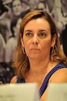 RIO DE JANEIRO, RJ, 09 DE MARCO 2012 - COPA 2014 - OBRAS MARACANA - A secretária de estado de Esporte e Lazer. Marcia Lins,  durante coletiva de impresna após visita ao canteiro de obras do estádio Maracanã, na zona norte da cidade, que será o palco da final da Copa do Mundo de 2014. (FOTO: GLAICON EMRICH / BRAZIL PHOTO PRESS)